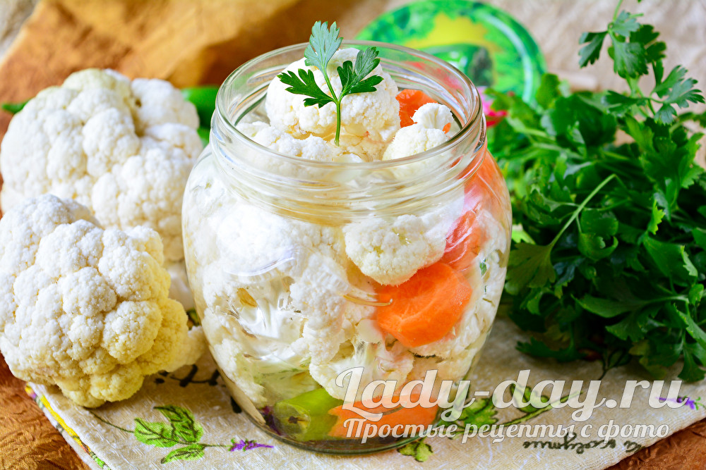 Цветная капуста: рецепты на зиму