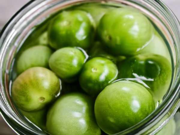 Как заквасить зелёные помидоры разными способами?
