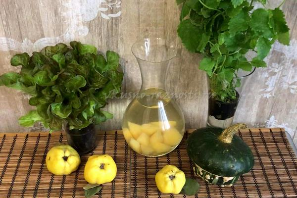 Рецепты вкусного компота из айвы