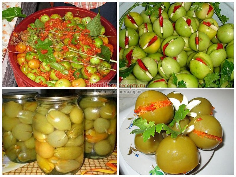 Зеленые помидоры пальчики оближешь на зиму - 8 рецептов - 1000.menu
