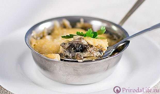 Домашний жульен из курицы с грибами на сковороде простые рецепты