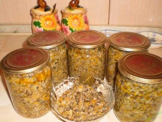 Грибная икра - рецепты из свежих, сушеных и соленых грибов с морковью, луком, помидорами