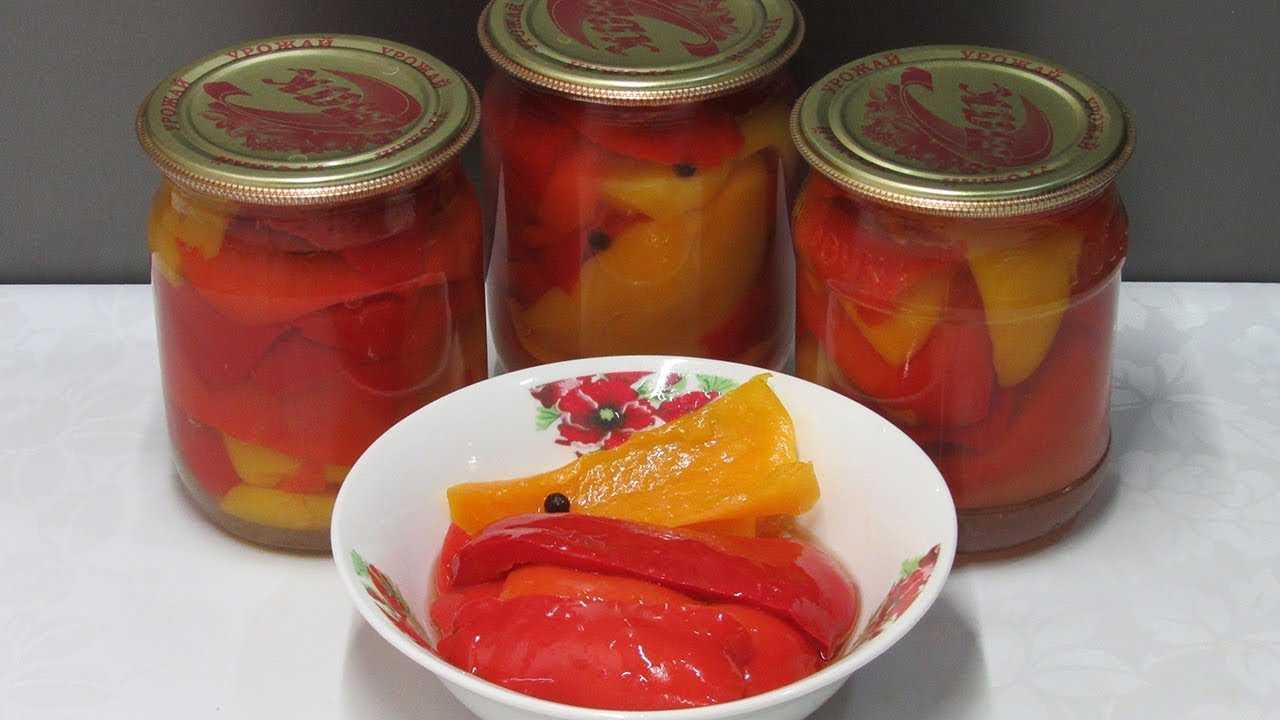 Сладкий перец на зиму - рецепты маринованного болгарского перца в масле или в томате