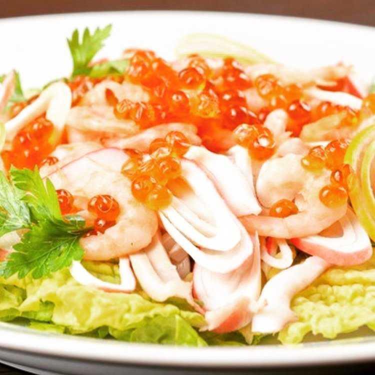 Салат морской бриз рецепт с фото пошагово - 1000.menu