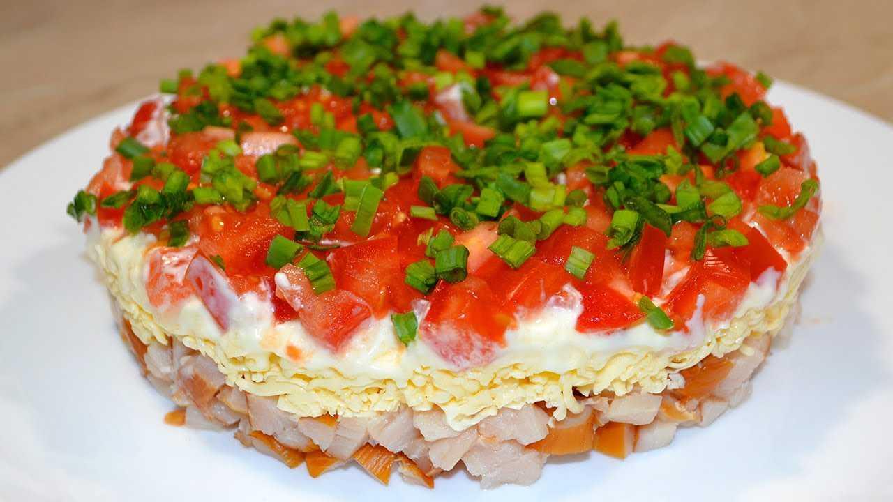 Салат с сыром и помидорами – пошаговые рецепты с фото