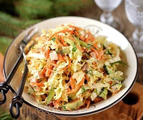Салат из пекинской капусты и корейской моркови
