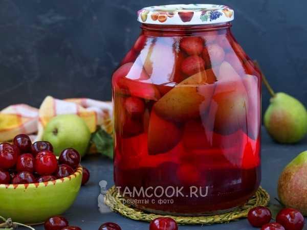 Компот из груши на зиму - простой рецепт без сахара и стерилизации, с добавлением уксуса и лимонной кислоты
