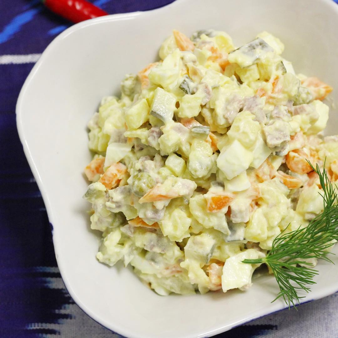 Салат зимний: рецепты с фото пошагово