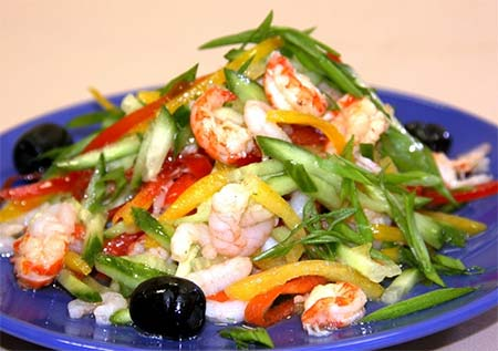 Рецепт: салат морская звезда