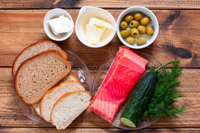 Канапе с семгой - ресторанное блюдо: рецепт с фото и видео