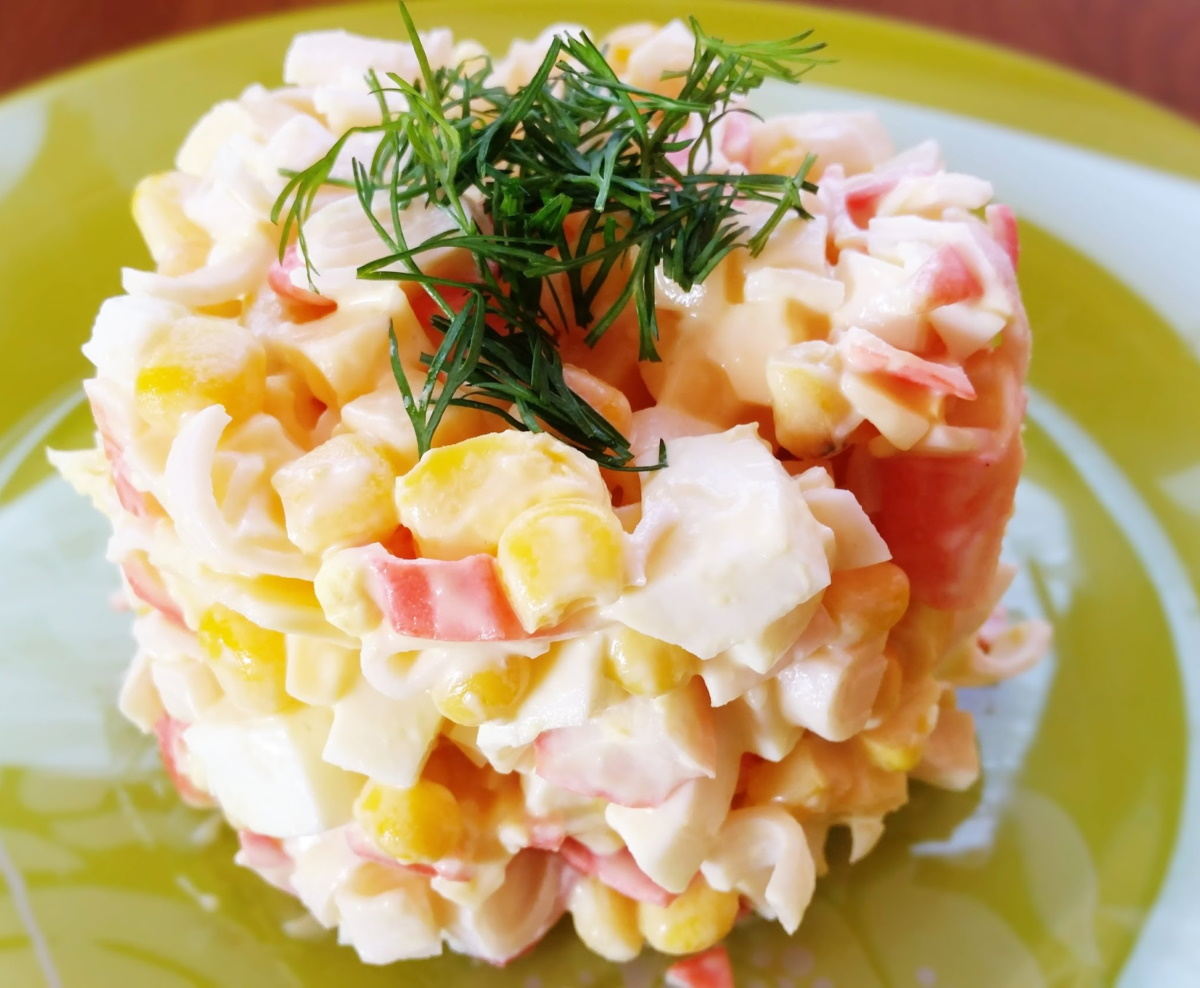 Салат креветки огурец яйцо