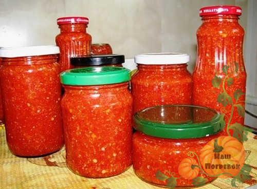 Аджика из помидор и хрена на зиму рецепт с фото