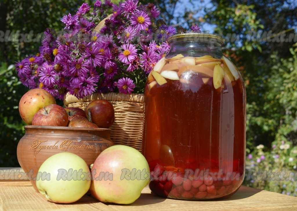Лучшие рецепты компота из яблок и вишни на зиму, как сварить в домашних условиях и хранение