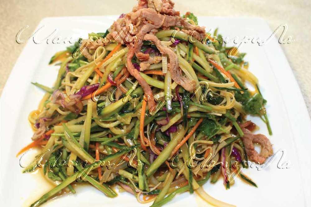 Овощной салат с крахмальной лапшой - рецепт с фотографиями - patee. рецепты