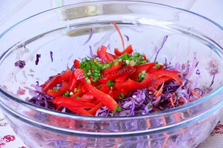 Салат из капусты со сладким перцем - страна мам