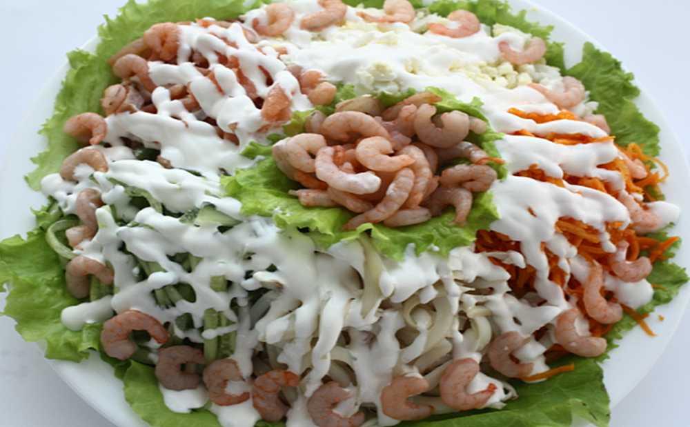 Салат морское дно – очень полезный, вкусный и всегда оригинальный