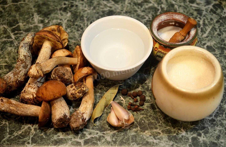 Топ 5 рецептов маринованных подберезовиков