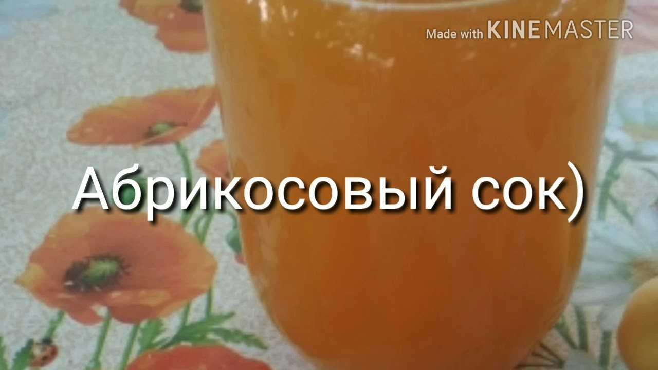 Сок из абрикосов — пошаговый рецепт с фото