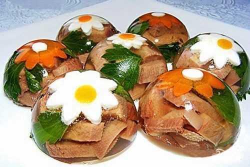 Заливное из свиного языка рецепт с фото пошагово и видео - 1000.menu