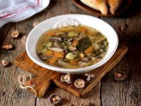 Грибной суп из шампиньонов с вермишелью и картофелем