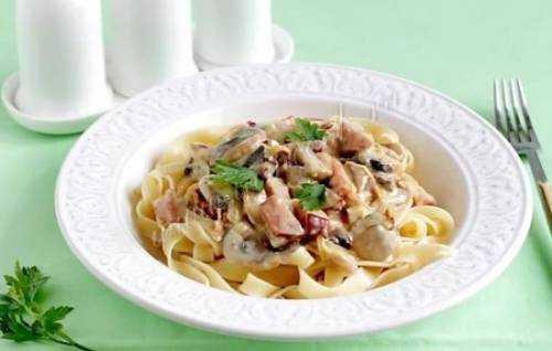 Фетучини с курицей и грибами — пошаговый рецепт с фото