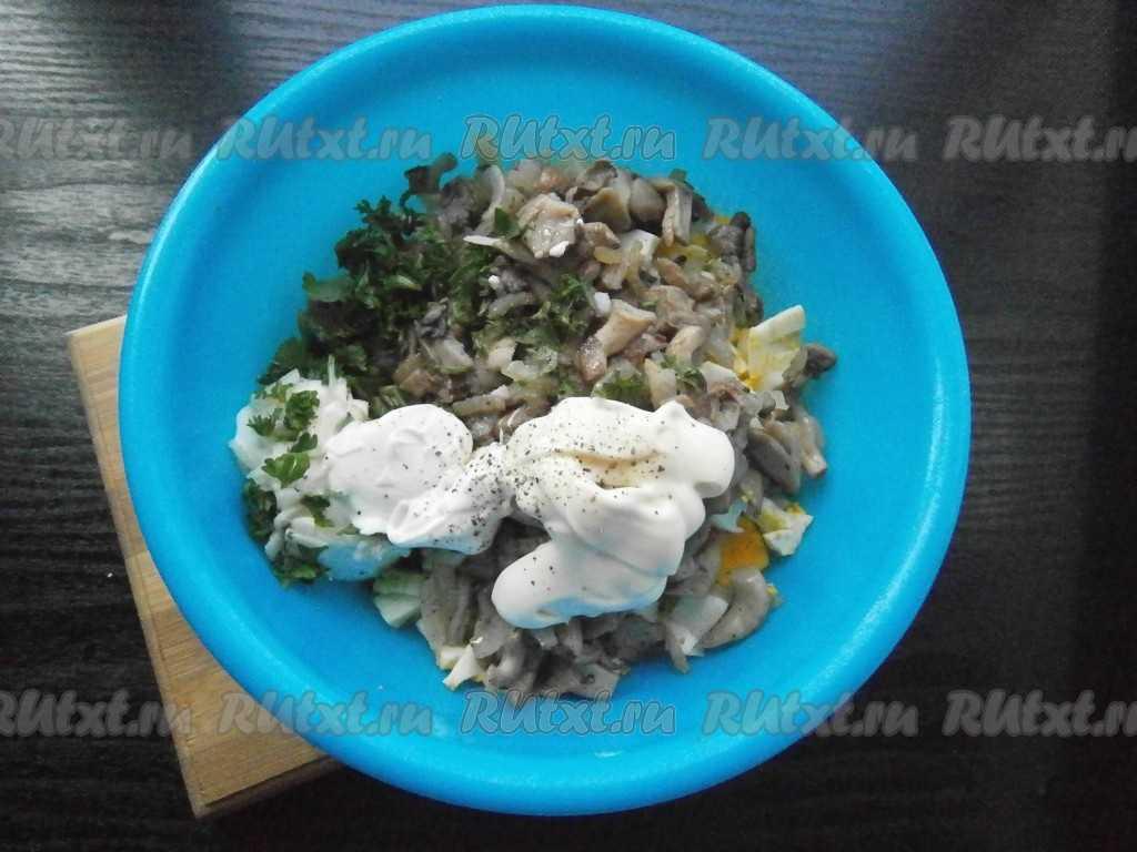 Салаты с грибами вешенками: фото, рецепты салатов с маринованными, жареными и солеными вешенками