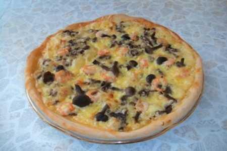 Пицца с лисичками пошаговый рецепт