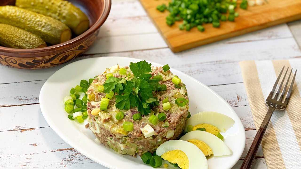 Салат из говядины с соленым огурцом – угощаем гостей: рецепт с фото и видео