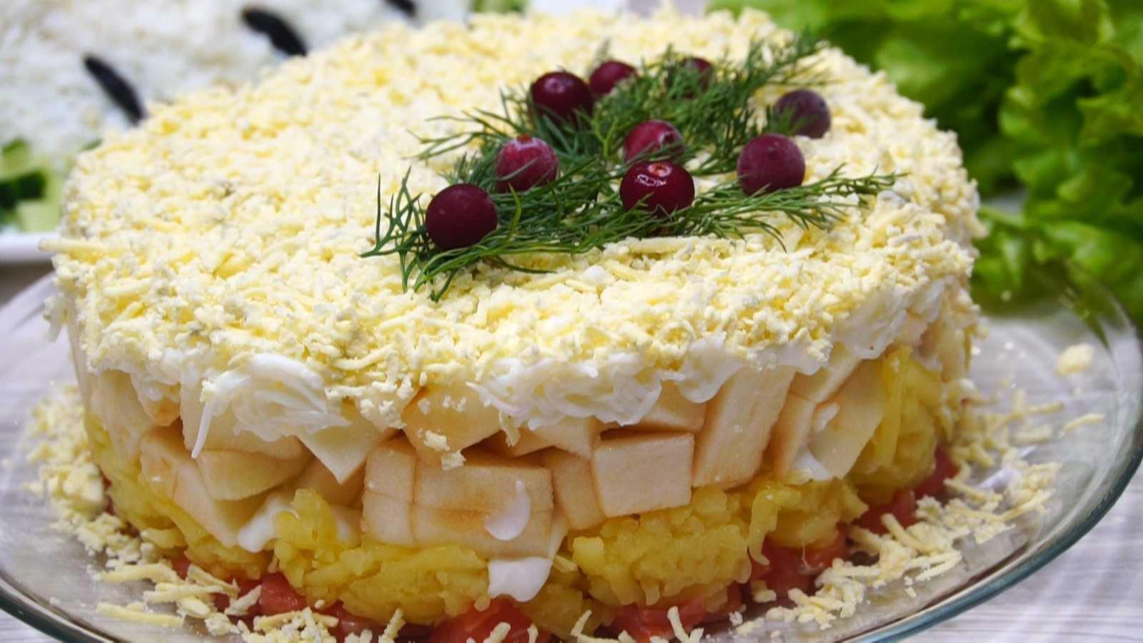 «королевский» салат с апельсинами
