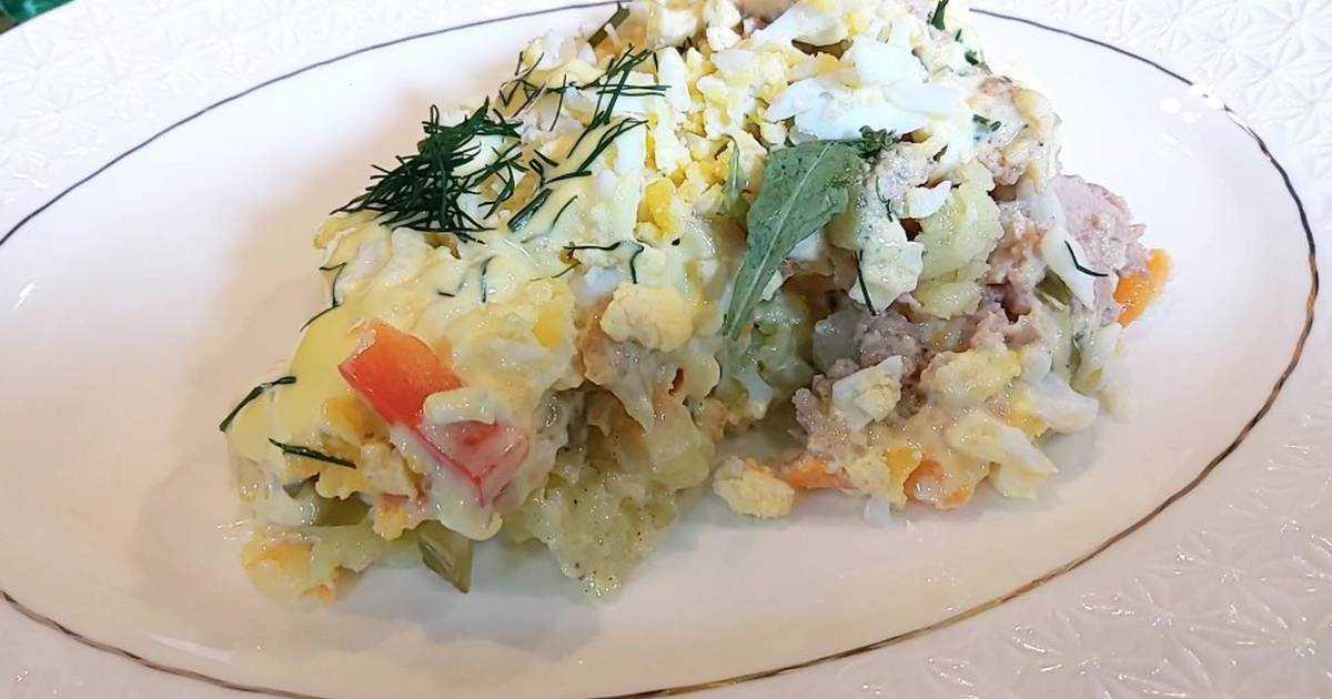 Салат из печени трески - 15 пошаговых рецептов приготовления с фото