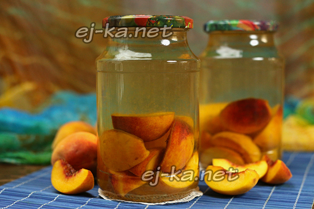 Компот из персиков на зиму – 8 фото рецептов персикового компота