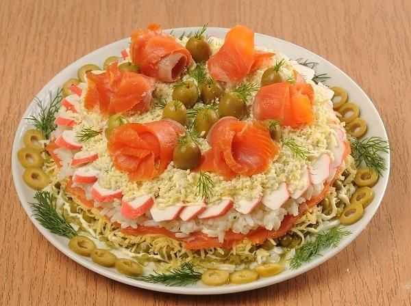 Салат мясной к праздничному столу рецепт с фото пошагово - 1000.menu