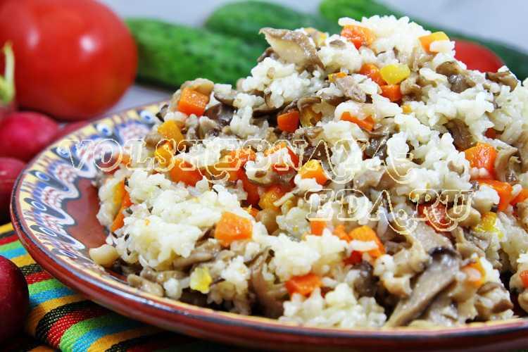 Рецепт плов постный с грибами домашний. калорийность, химический состав и пищевая ценность.