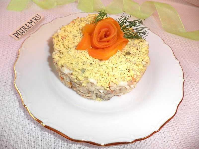 Салаты с консервированной рыбой, 57 рецептов, фото-рецепты / готовим.ру