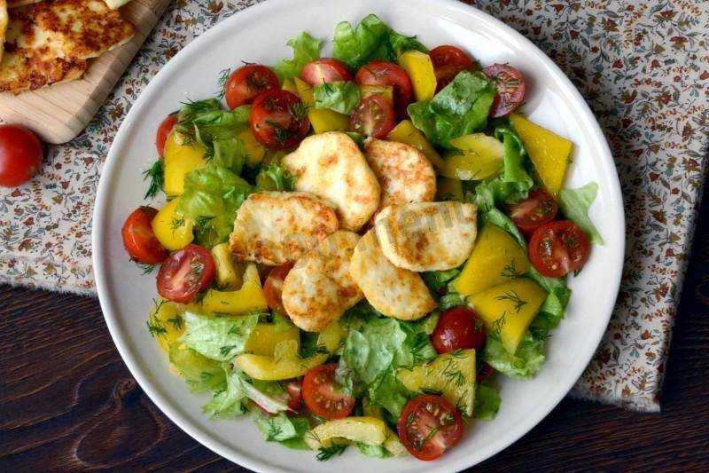 Готовим салат с жареным адыгейским сыром и помидорами: поиск по ингредиентам, советы, отзывы, пошаговые фото, подсчет калорий, удобная печать, изменение порций, похожие рецепты