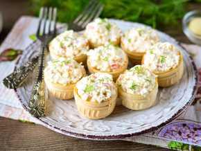 Тарталетки с креветками – 10 пошаговых рецептов