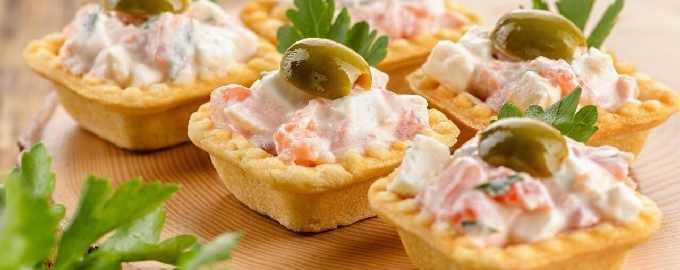 Тарталетки с творожным сыром – лучшие рецепты закусок для фуршета