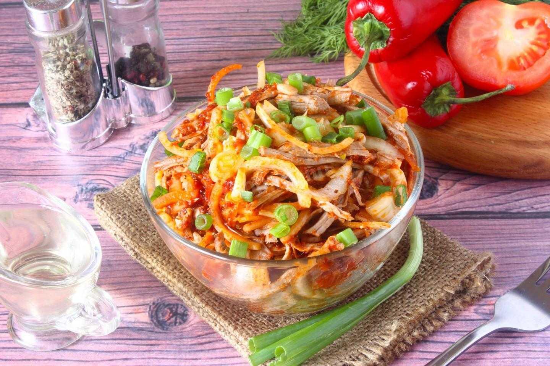 Охотничий салат с говядиной и соленым огурцом рецепт с фото - 1000.menu