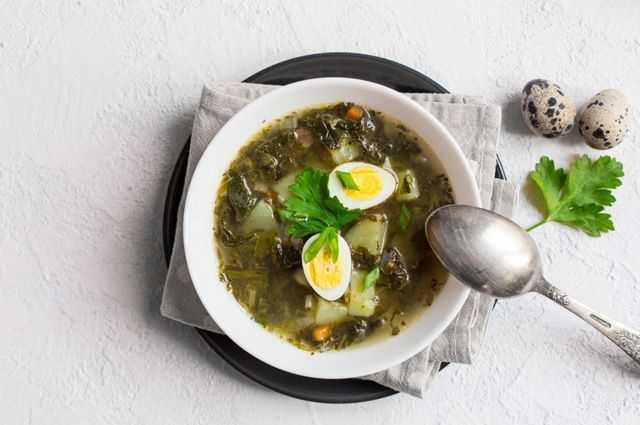 Щавель — рецепты зелёного супа с яйцом и зеленью