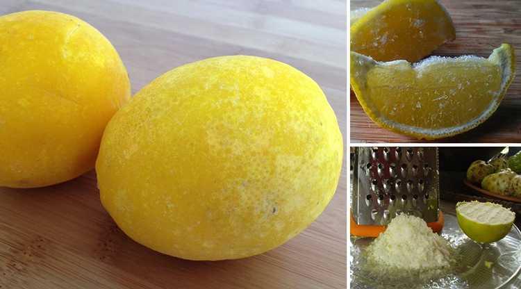 Можно ли замораживать лимон, как это правильно делать
