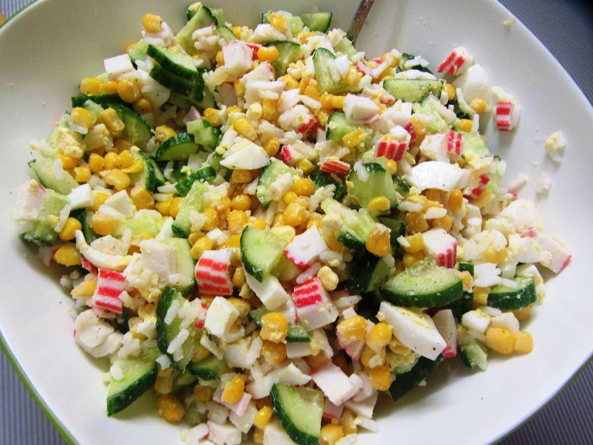 Рецепты салат с грибами и крабовыми палочками