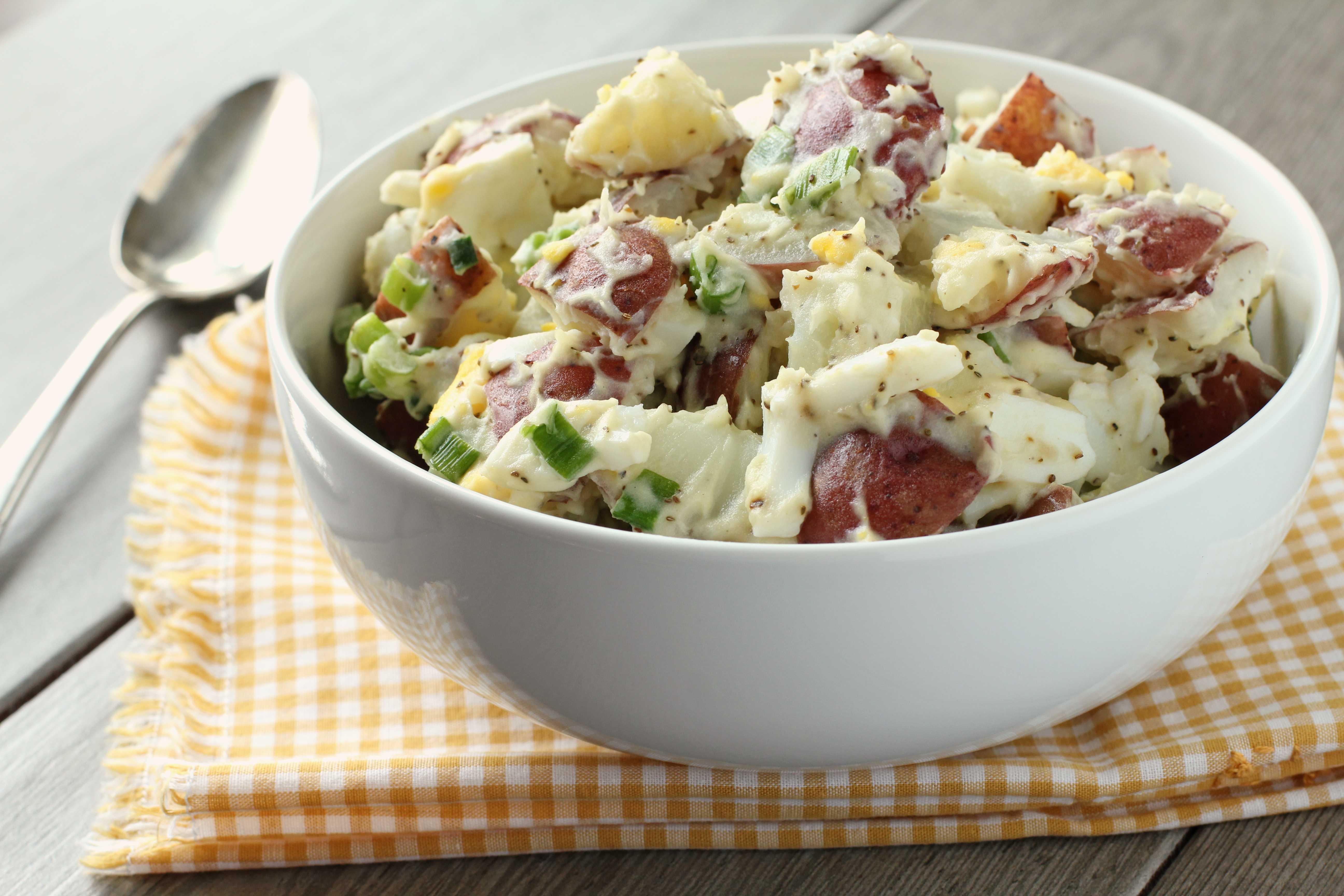 Картофельный салат по-американски - 8 пошаговых фото в рецепте