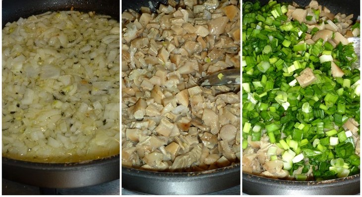 Пирог с солеными грибами и картошкой