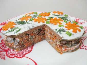 Торт из печени говяжьей, свиной рецепт с фото очень вкусный фоторецепт.ru