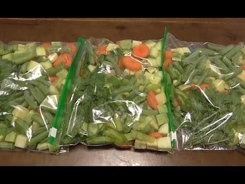 Как правильно замораживать овощи на зиму