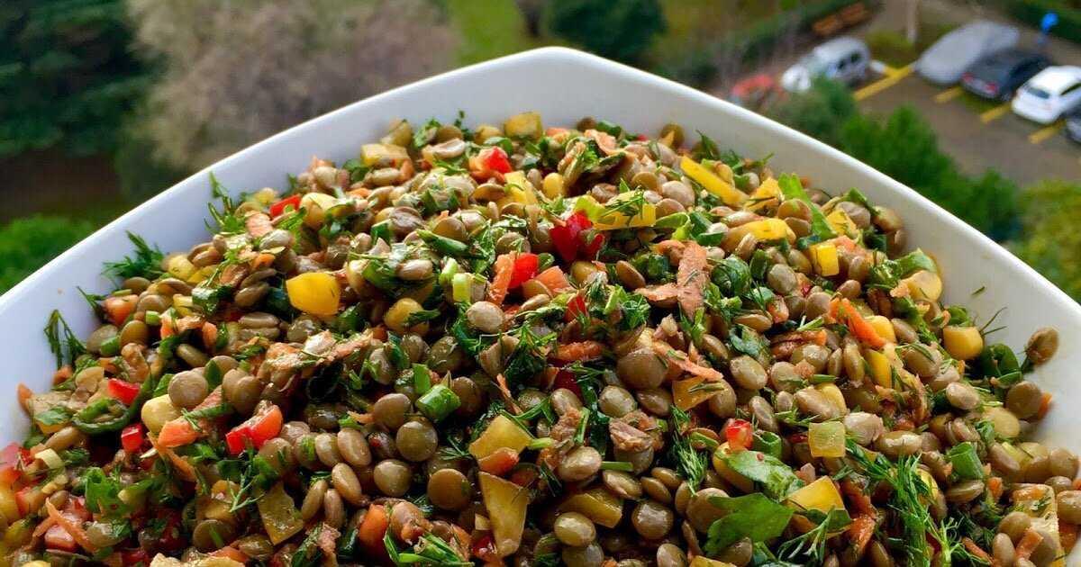 Салаты с зеленой чечевицей – рецепты с фото, 30 пошаговых рецептов | мир круп