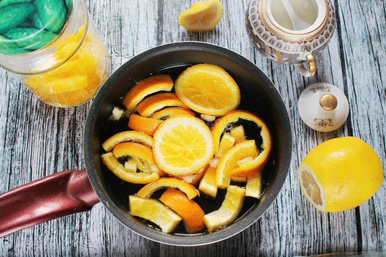 Компот мохито из абрикосов, апельсина, мяты и лимона на зиму: простой рецепт без стерилизации