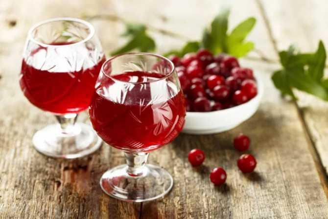 Зимнее клюквенное вино