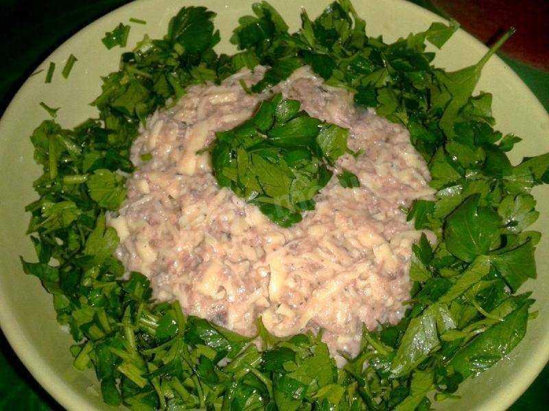 Салат рыбный с рисом - 1000.menu