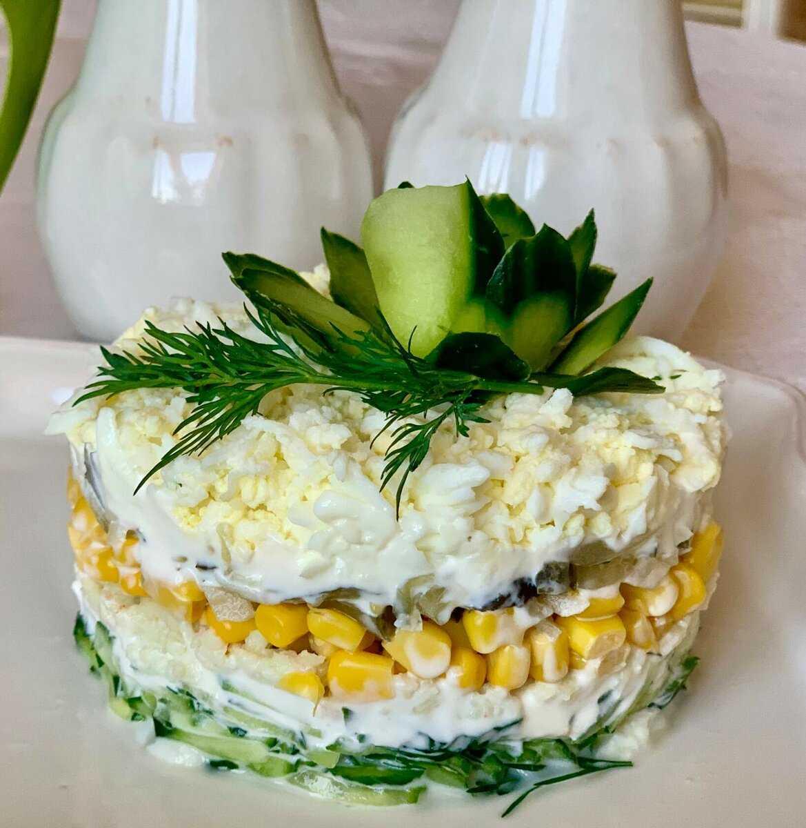Салат с мясом криля яйцом и огурцом рецепт с фото пошагово и видео - 1000.menu